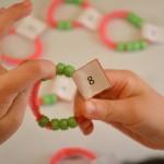 Singapore math number bond bracelet