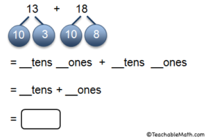 Add within 100: Using place value language