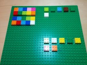 concrete manipulative using Lego bricks