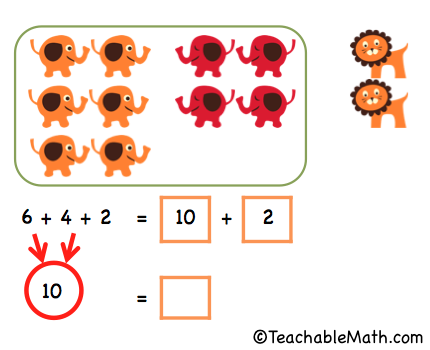 Singapore Math Adding three numbers within 20