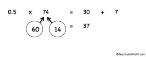 Mental Math Halving numbers