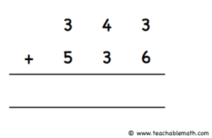 Addition without regroup