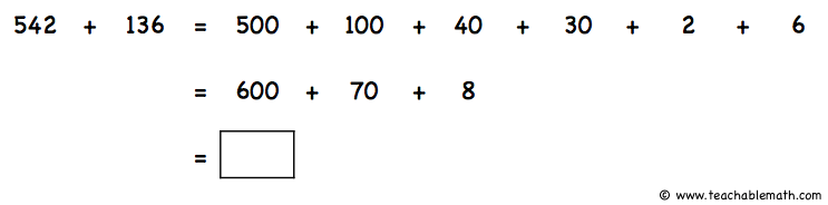 Number Sense: Adding by break apart