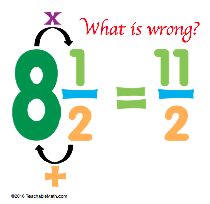 Singapore Math Mixed numbers to improper fractions