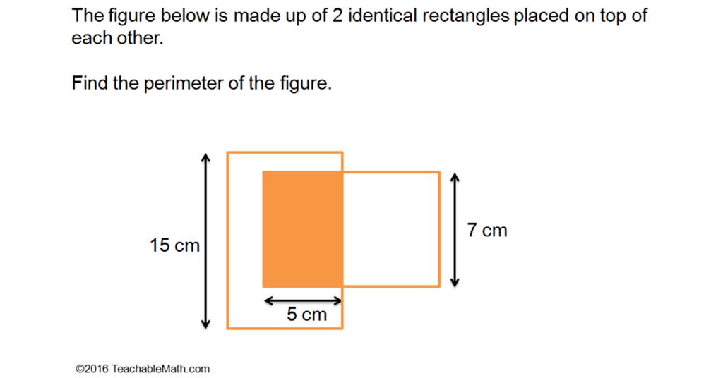 Singapore math perimeter question