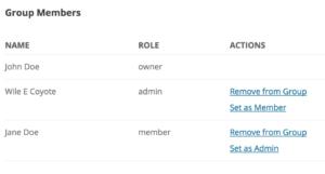 Set Group Member as Admin