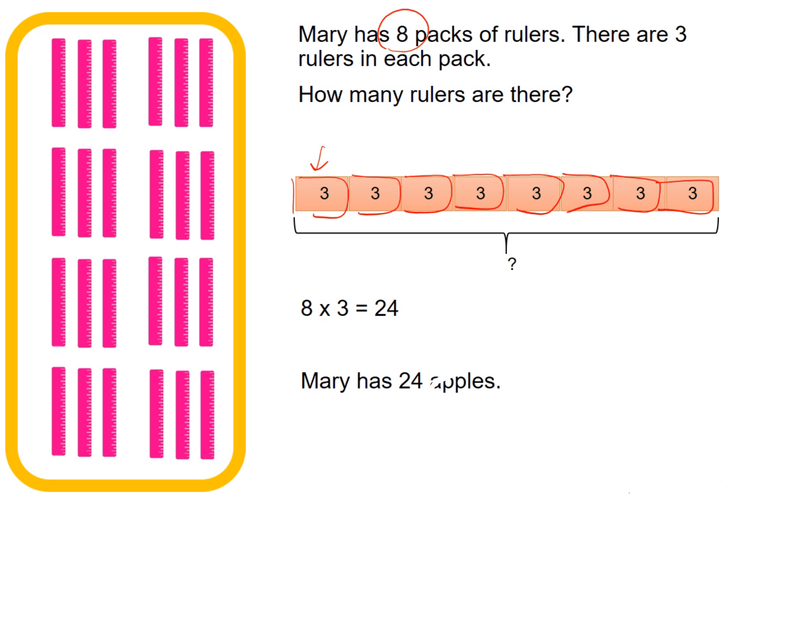 Multiplication Tables of 6, 7, 8 and 9
