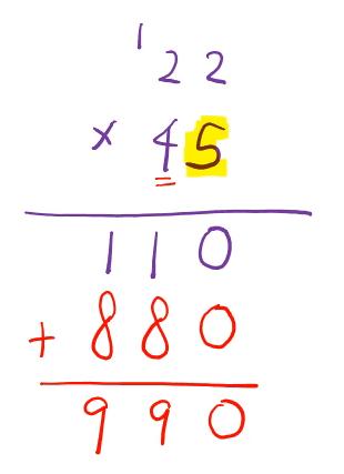 multiply 2 digits using standard algorithm