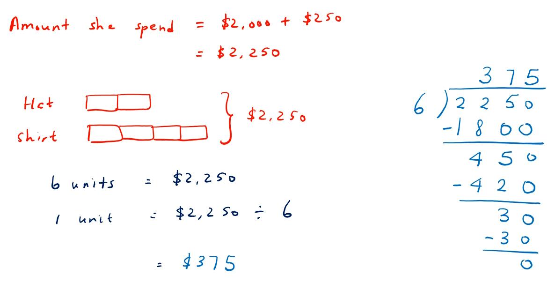 three step word problem