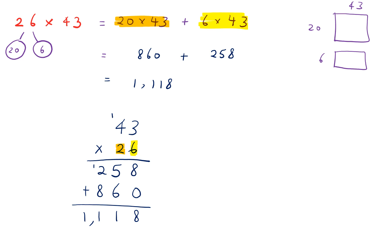 Multiply a 4-digit number with a 2-digit number