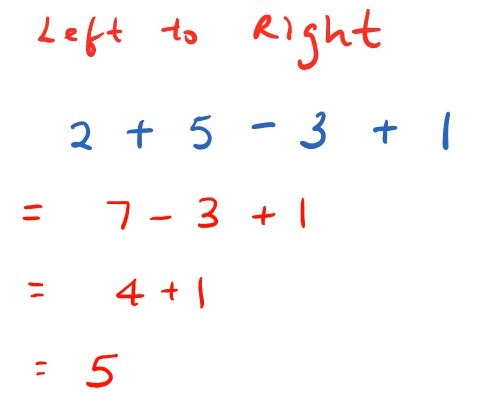 order of operations left to right